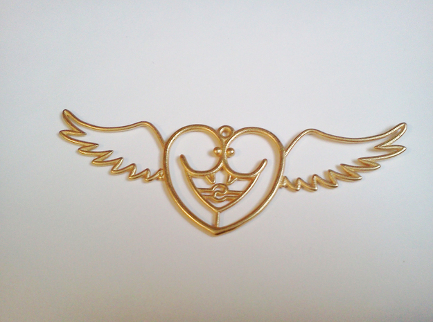 Lovebird in Polished Gold Steel