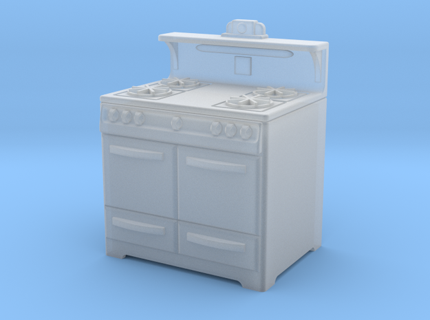 1:48 Wedgewood Stove in Smooth Fine Detail Plastic
