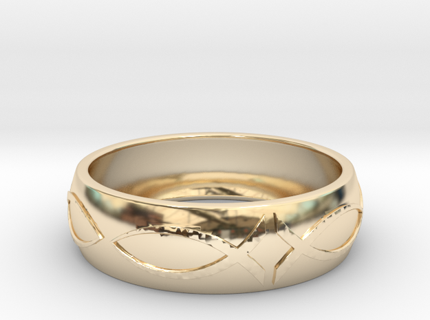 Size 8 Ring  in 14k Gold Plated Brass