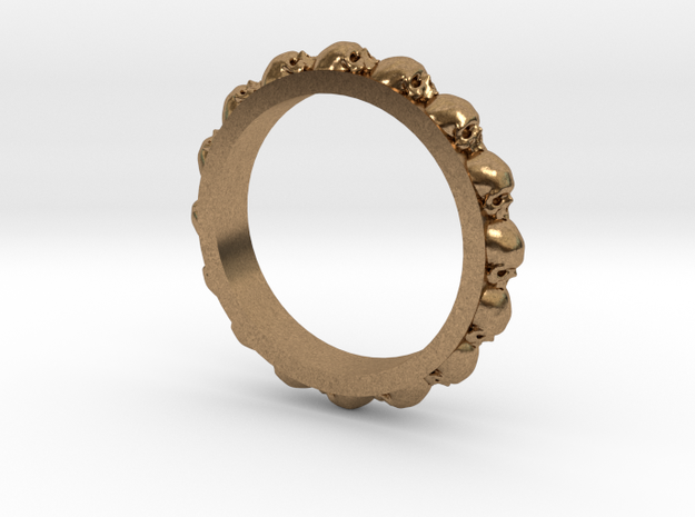 Skull Eternity Style Size 8 in Natural Brass