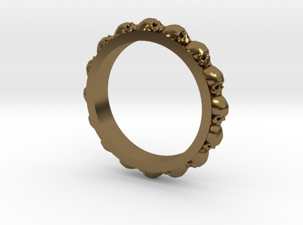 Skull Eternity Style Size 12 in Polished Bronze