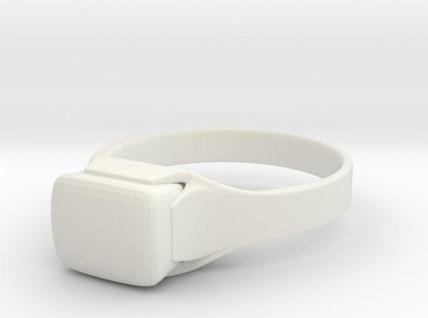 Ring Diamond in White Natural Versatile Plastic