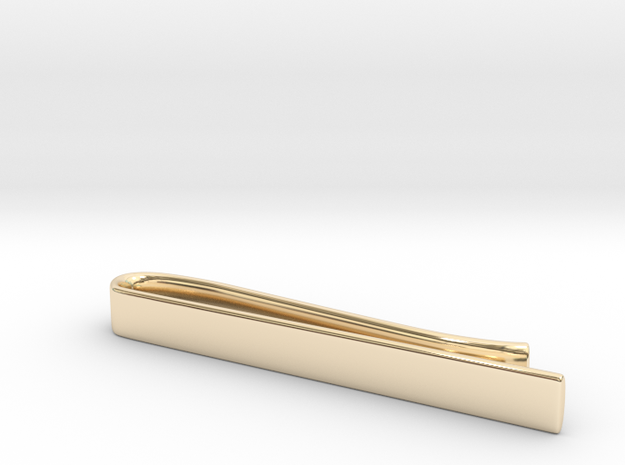 Tie Bar (plain) in 14k Gold Plated Brass
