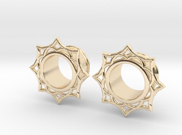 Lotus Eyelets in 14K Gold