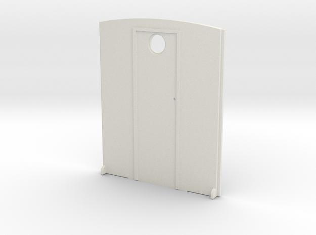 1:32 Narrow Gauge Coach Inner End in White Natural Versatile Plastic
