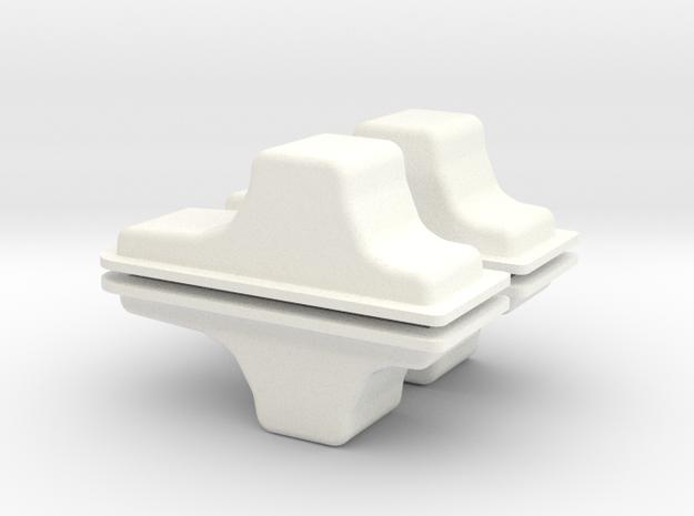 CUSTOM OIL PAN x 4 in White Processed Versatile Plastic