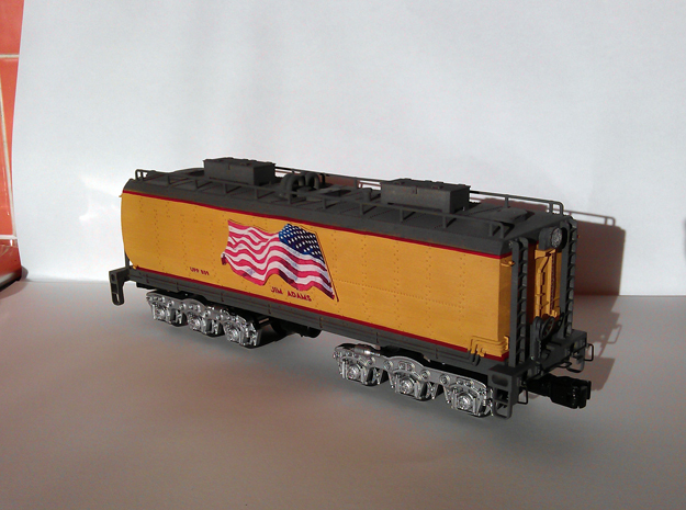 UP Water Tender O Scale 1:48 Jim Adams in Smooth Fine Detail Plastic