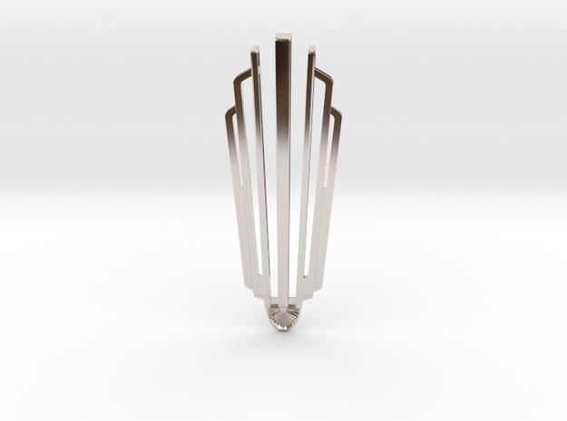 Art déco  in Rhodium Plated Brass
