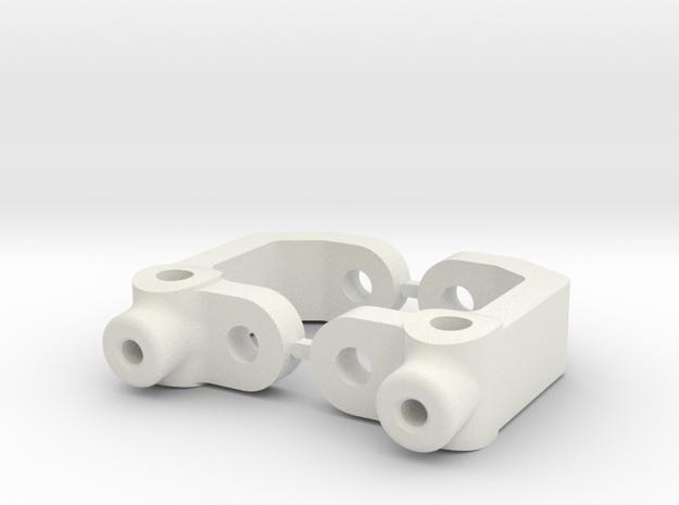 RC10B3 - 5 DEGREE - DIRT OVAL - CASTOR BLOCk in White Strong & Flexible