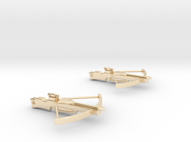Cross Bow Earrings 3d printed