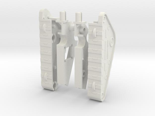 Wrecktifier Tank Treads MINI KIT in White Natural Versatile Plastic