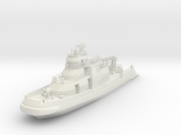 1-100 Fire Boat Like FDNY 343 in White Natural Versatile Plastic