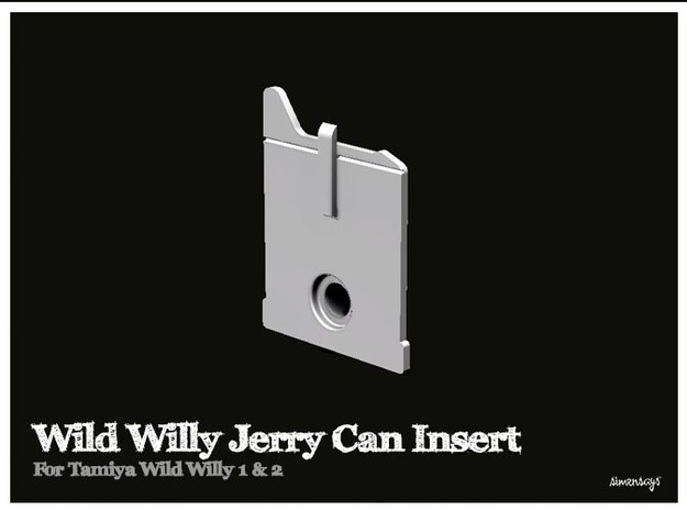 Simensays Wild Willy Jerry Can Insert in White Strong & Flexible Polished