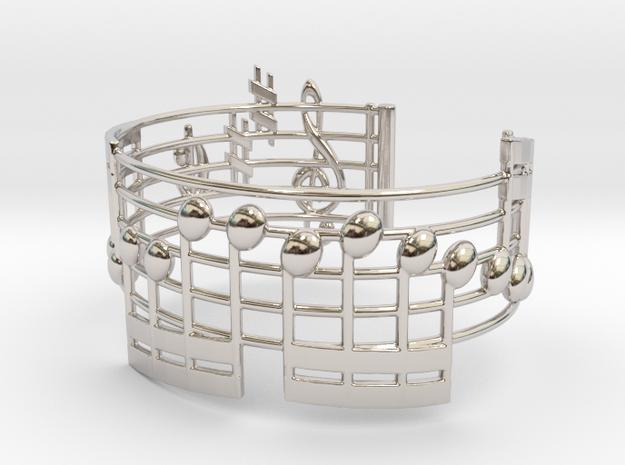 Bach Music Bracelet in Rhodium Plated Brass