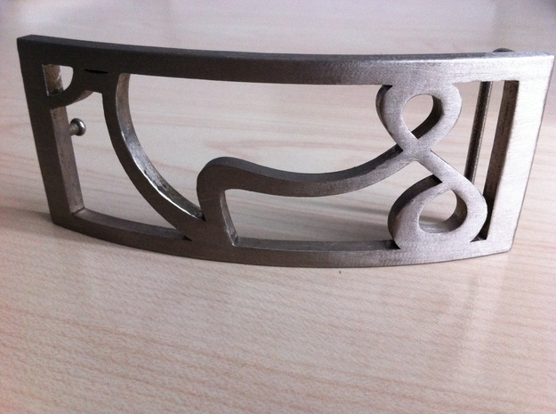 Belt buckle VS by SV 3d printed Stainless steel version