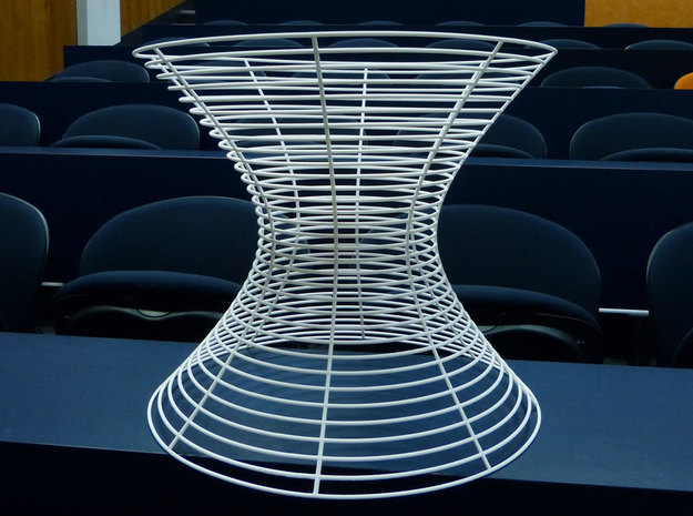 Hyperboloid of one sheet 3d printed