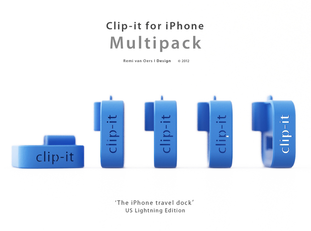 Multipack x10 Clip-it US Lightning edition 3d printed