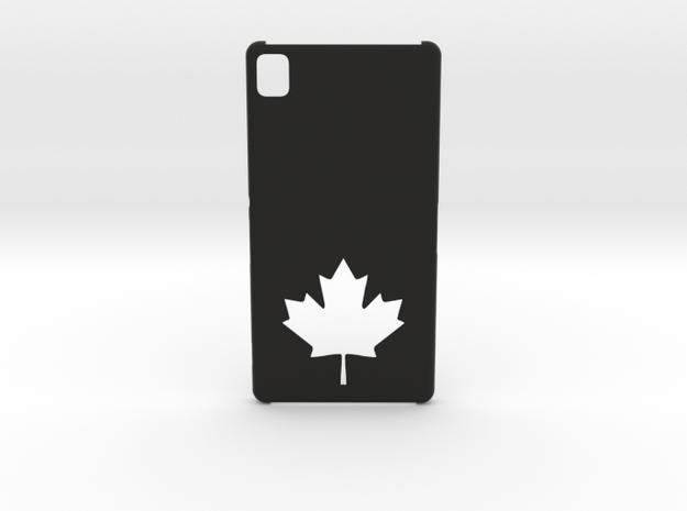 Sony Xperia Z3 Case: Canada in Black Natural Versatile Plastic