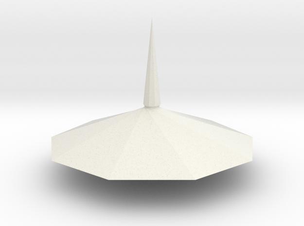 Spinning top PT v5 in White Natural Versatile Plastic