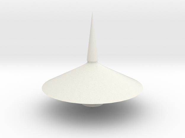 Spinning top PT v7  in White Natural Versatile Plastic