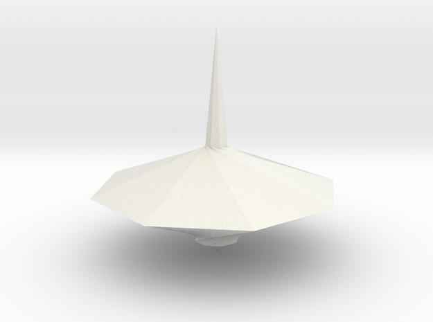 Spinning top PT v9 in White Natural Versatile Plastic