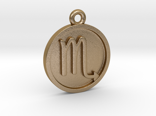 Scorpio/Skorpion Pendant in Polished Gold Steel