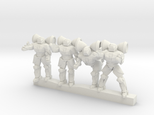 Shield Troopers 10mm in White Natural Versatile Plastic