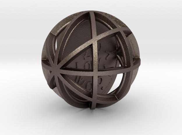 ZWOOKY Style 3405  -  Sphere in Polished Bronzed Silver Steel
