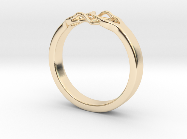 Roots Ring (19mm / 0,75inch inner diameter) in 14K Yellow Gold