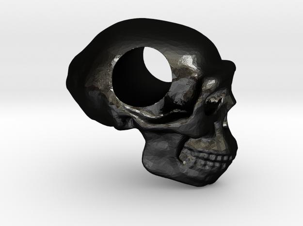 Homo erectus pendant in Matte Black Steel