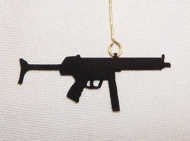 MP5 Earring Pendant 3d printed
