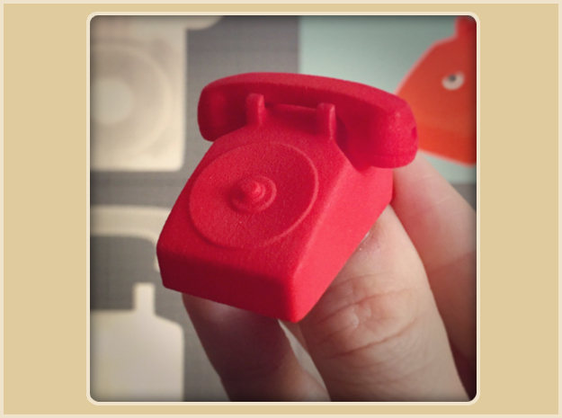 Batphone  in Red Strong & Flexible Polished