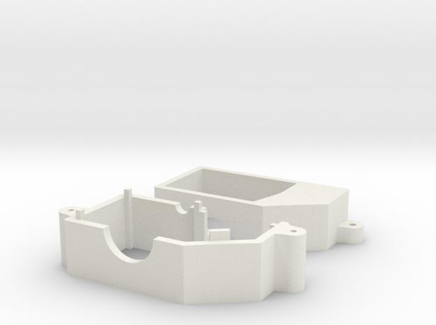 Losi 1/24 Micro Gear Case in White Natural Versatile Plastic