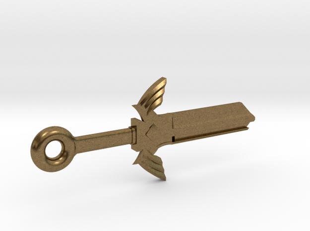 Zelda Master Sword House Key Blank - KW1/66 in Natural Bronze