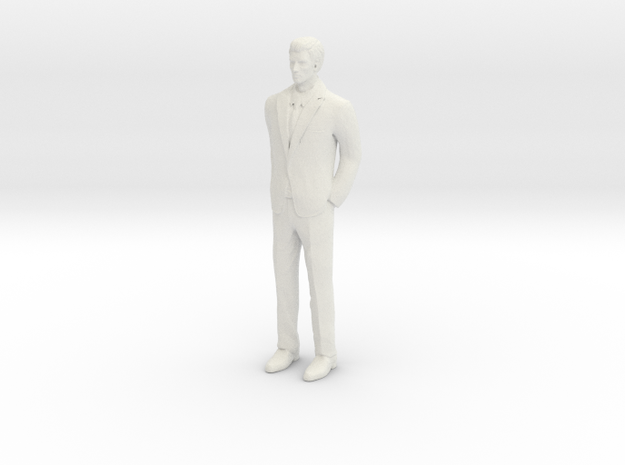 Half Scale Man Standing in White Natural Versatile Plastic