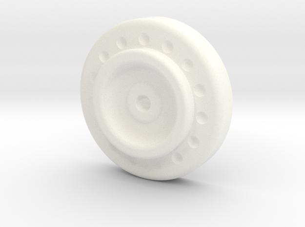 Back Clasp in White Processed Versatile Plastic
