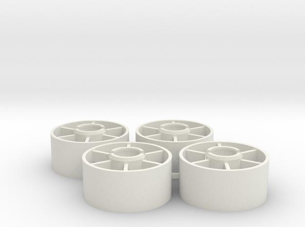 Mini-z Front Wheels 19 5 +1 in White Strong & Flexible