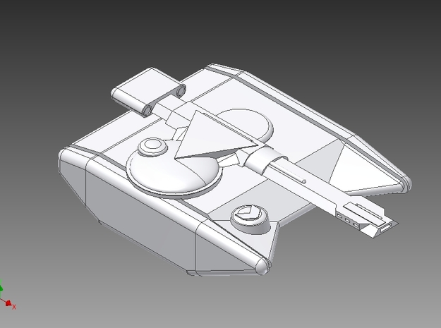 Artistic rendition of Tron Tank 3d printed