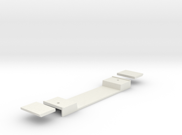 Base Carriage#7 (n-scale) in White Natural Versatile Plastic