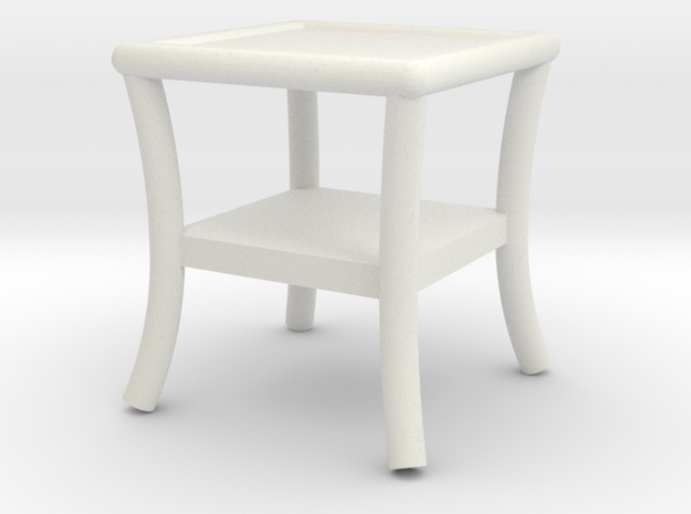 1:48 Patio Side Table in White Strong & Flexible