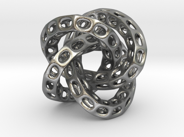 The Hollow Hole Knot in Raw Silver