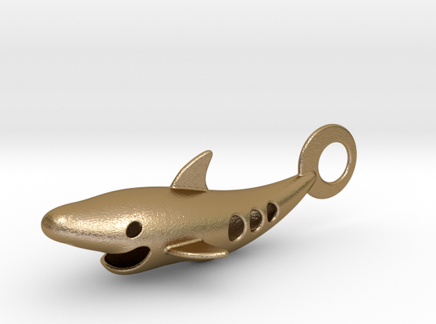 Shark bottle opener in Polished Gold Steel