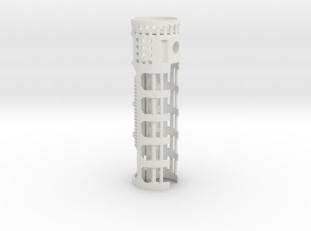 NB2-28mmRail-1.10OD in White Strong & Flexible