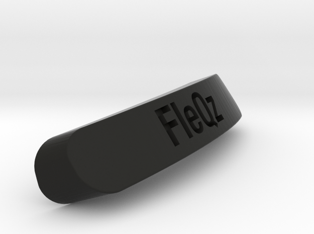 FleQz Nameplate for SteelSeries Rival in Black Natural Versatile Plastic