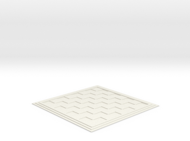 Chess/Checker Board in White Natural Versatile Plastic