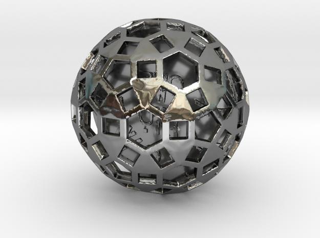 ZWOOKY Style 3417  -  Sphere in Fine Detail Polished Silver