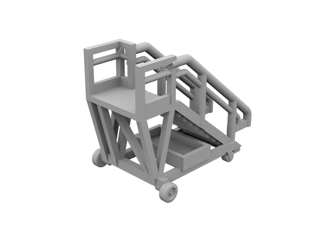 1:500 - Airstair_v1 [x5] in Smooth Fine Detail Plastic