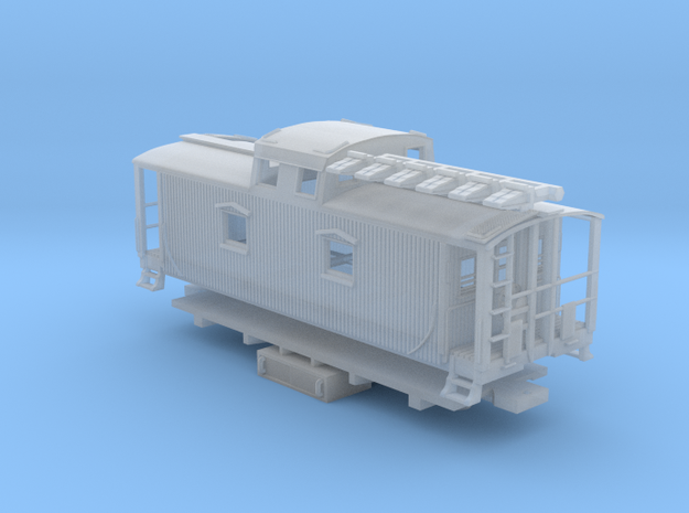 """D&H """"Pennsylvania Pusher"""" Caboose (1/160) in Smooth Fine Detail Plastic"""