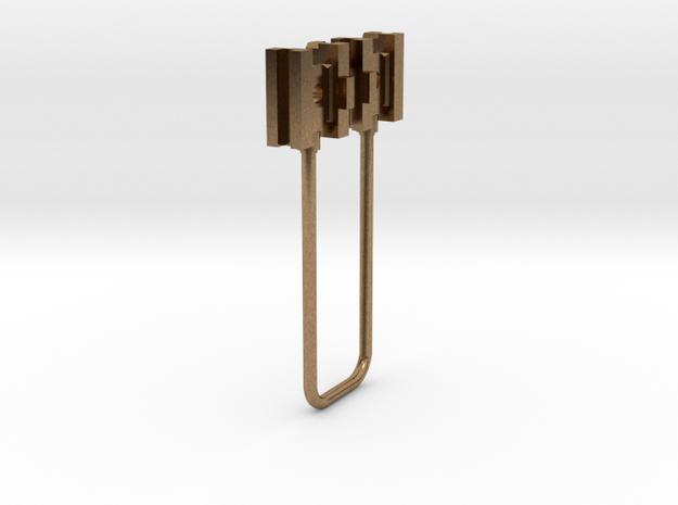 HO simple cross heads in Raw Brass
