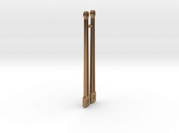 HO piston rods in Raw Brass